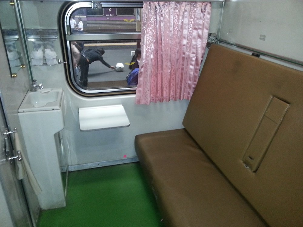 1st Class Compartment on-the 15.10 Train to Surat Thani