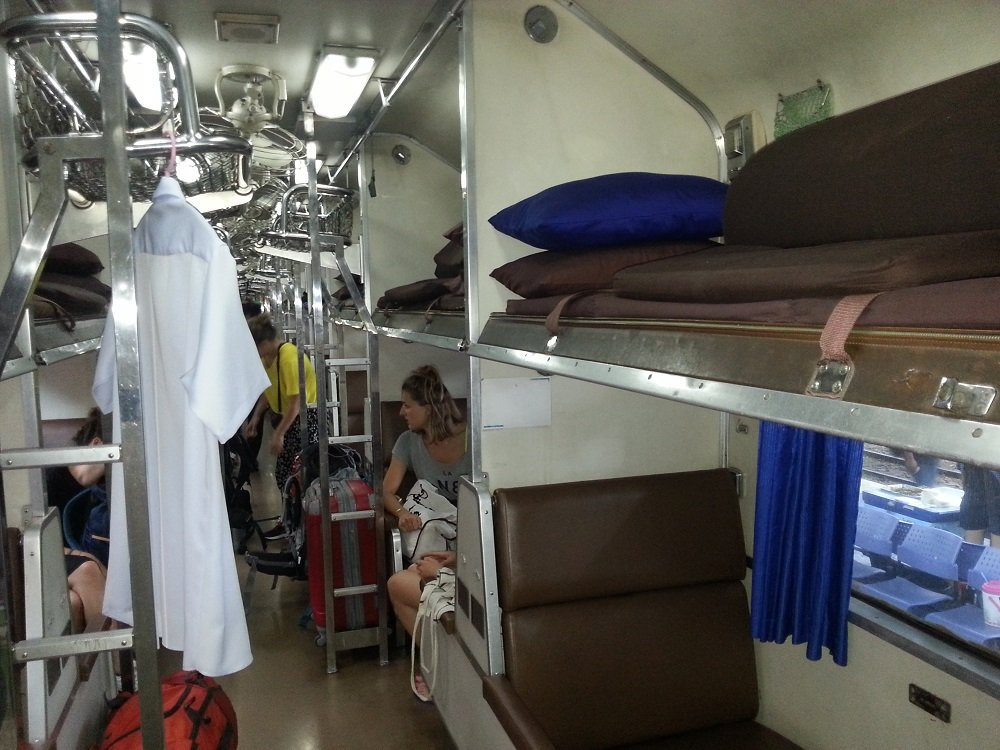 2nd Class Air Conditioned Sleeper carriage on the 17.05 to Surat Thani