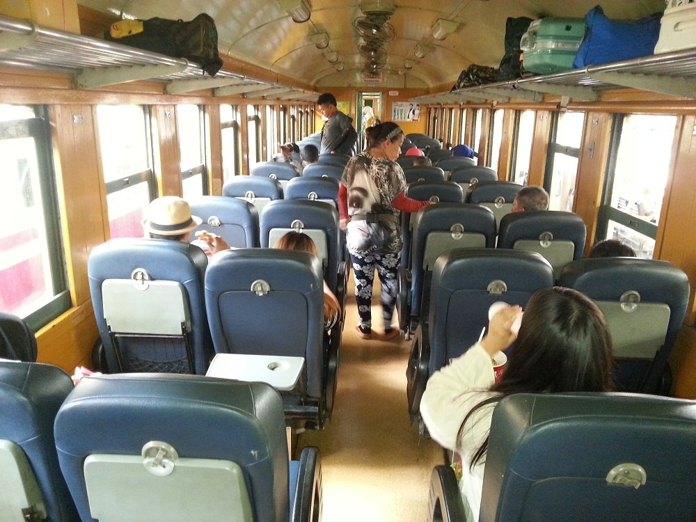 2nd Class Fan Seats on Train 171