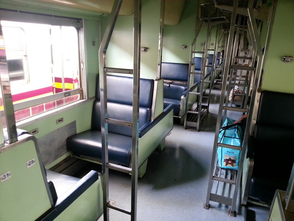 2nd Class Fan sleeper carriage on the 13.00 train to Surat Thani