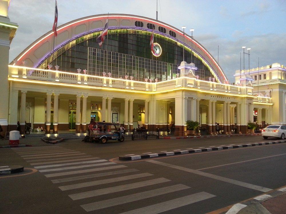 Front of Hua Lamphong Train Station