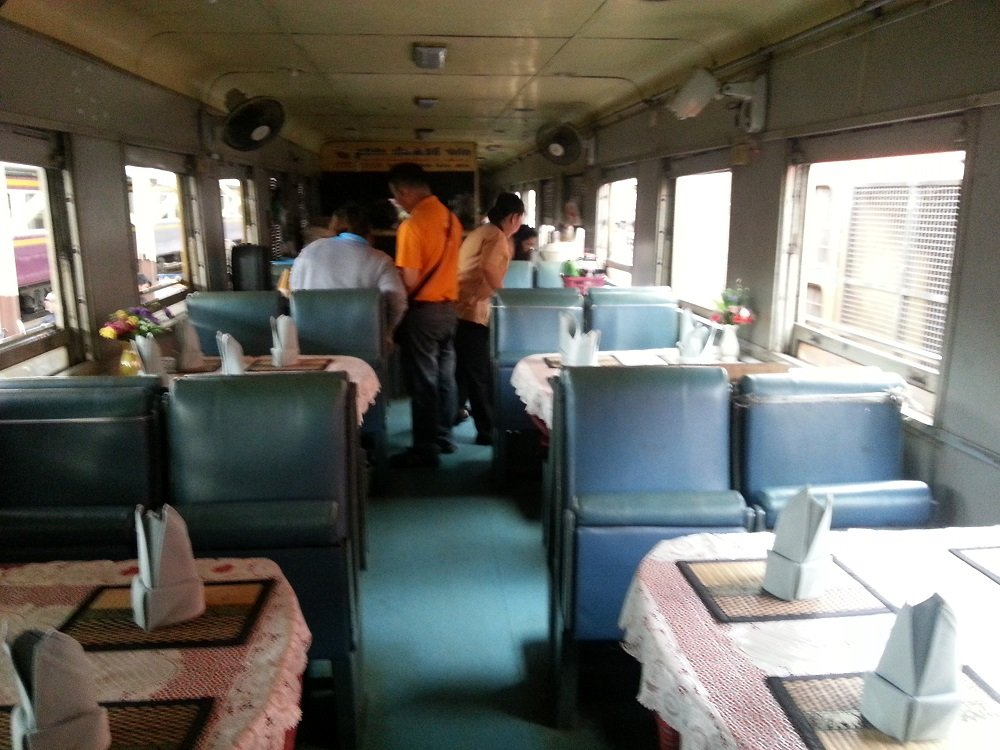 Restaurant Car on Train 83 to Surat Thani