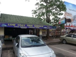 Taxi Rank at Surat Thani train station