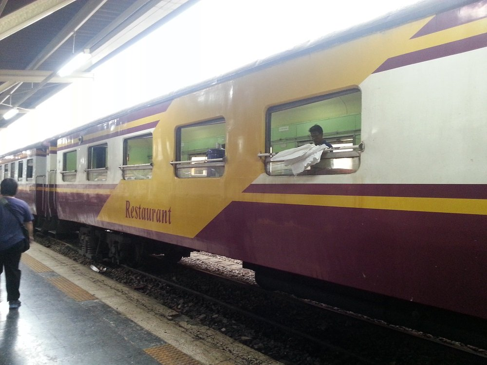 Train 167 being prepared for the journey to Surat Thani