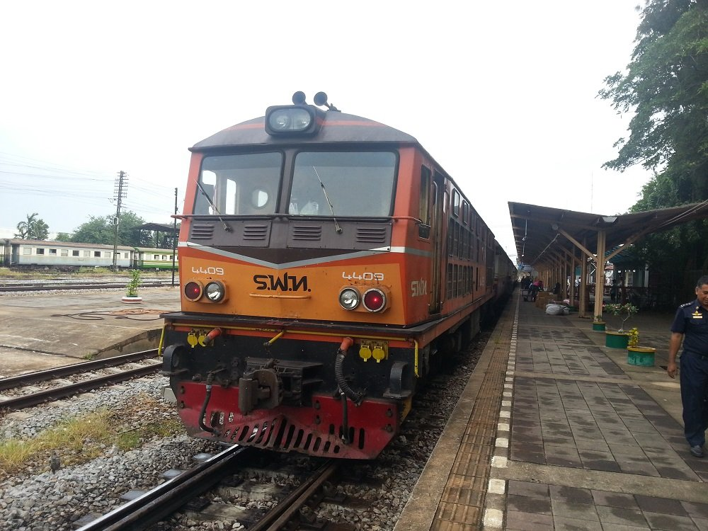 Train 167 on Arrival at Surat Thani