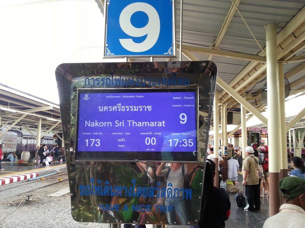 Train 173 terminates at Nakorn Sri Thamarat